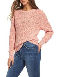 Free People | Red Electric City Pullover Sweater | Lyst