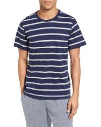 Daniel Buchler | Blue Peruvian Pima Cotton Stripe T-shirt for Men | Lyst