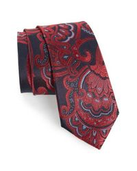 Calibrate | Red Paisley Woven Silk Tie for Men | Lyst