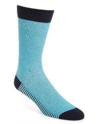 Ted Baker | Blue Check Socks for Men | Lyst