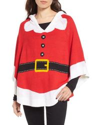 Love By Design - Red Santa Hooded Poncho - Lyst