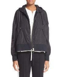 Moncler | Black Comte Hooded Rain Jacket | Lyst