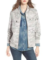 Treasure & Bond | Blue Camo Bomber Jacket | Lyst