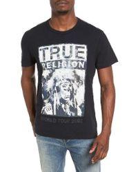 True Religion | Black Graphic T-shirt for Men | Lyst