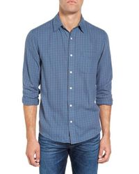 Faherty Brand - Blue Ventura Trim Fit Tattersall Sport Shirt for Men - Lyst