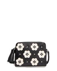 Rebecca Minkoff | Black Floral Applique Leather Camera Bag | Lyst