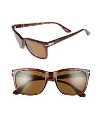 Persol | Brown 50mm Polarized Sunglasses - Havana | Lyst