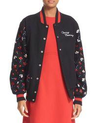 Opening Ceremony | Black Embroidered Varsity Jacket | Lyst