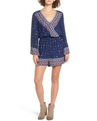 Roxy - Blue Midnight Romper - Lyst