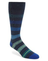 Paul Smith | Blue Tonal Ladder Stripe Socks for Men | Lyst