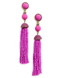 BaubleBar | Purple Artemis Tassel Drop Earrings | Lyst