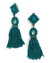 BaubleBar - Blue Sohvi Tassel Drop Earrings - Lyst
