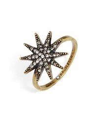 BaubleBar - Metallic Ultima Crystal Ring - Lyst