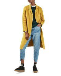 TOPSHOP | Multicolor Snap Button Three-quarter Coat | Lyst
