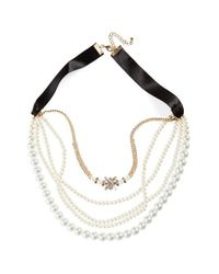 Cara - Metallic Multistrand Necklace - Lyst