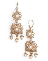 Marchesa | Metallic Chandelier Drop Earrings | Lyst
