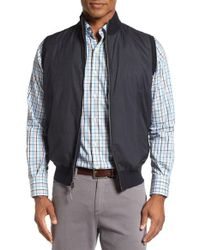 Peter Millar | Black Lenoir Windproof Water-resistant Hybrid Vest for Men | Lyst