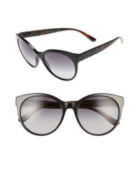 9194a20e2e97 Lyst - Burberry 56mm Retro Sunglasses in Black