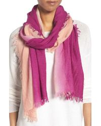 Eileen Fisher | Pink Ombre Scarf | Lyst