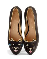 Charlotte Olympia - Brown Lol Kitty Flat - Lyst