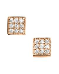 Ginette NY   Metallic Mini Diamond Ever Stud Earrings   Lyst