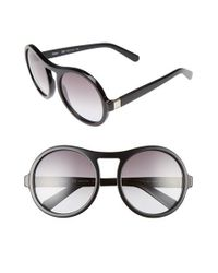 Chloé | Black Marlow 57mm Round Sunglasses | Lyst