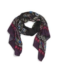 Ted Baker | Black Treasured Trinkets Silk Scarf | Lyst