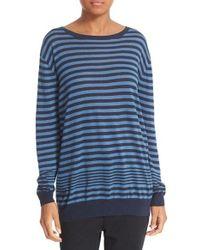 Vince | Blue Oversize Stripe Pullover | Lyst