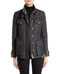 Burberry | Black Haddingfield Quilted Field Jacket | Lyst