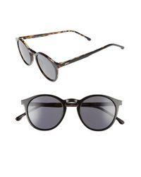 Komono | Black Aston 48mm Round Sunglasses | Lyst