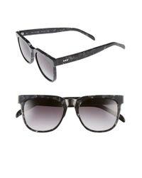 Komono | Black Riviera 54mm Rectangular Sunglasses | Lyst
