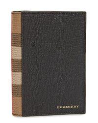 Burberry | Black Kirtley Passport Case for Men | Lyst