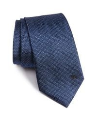 Burberry | Blue Clinton Medallion Woven Silk Tie for Men | Lyst