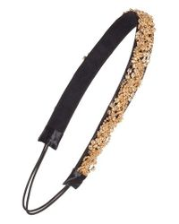 Tasha   Black Crystal & Chain Head Wrap   Lyst