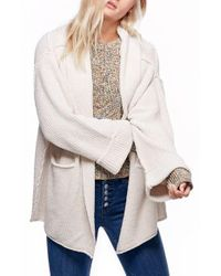 Free People | Natural Low Tide Cardigan | Lyst