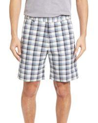 Bobby Jones | Gray Plaid Tech Chino Shorts for Men | Lyst