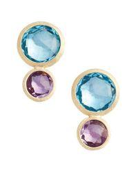 Marco Bicego | Blue Jaipur Semiprecious Stone Drop Earrings | Lyst