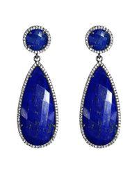 Susan Hanover | Blue Semiprecious Stone Double Drop Earrings | Lyst