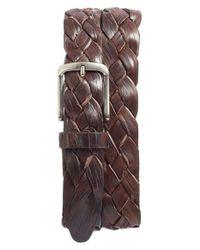 Martin Dingman | Brown Leonardo Braided Leather Belt | Lyst