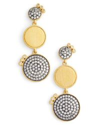 Freida Rothman - Metallic Baroque Blues Linear Earrings - Lyst