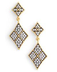 Freida Rothman | Metallic Contemporary Deco Drop Earrings | Lyst