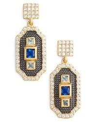 Freida Rothman | Metallic Modern Mosaic 3-stone Drop Earrings | Lyst