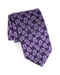 Eton of Sweden | Purple Paisley Silk Tie for Men | Lyst