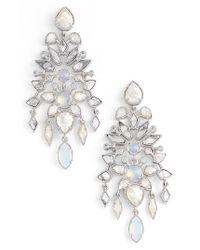 Kendra Scott - Metallic Aryssa Statement Earrings - Lyst