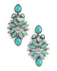 Kendra Scott | Blue Aurilla Drop Earrings | Lyst