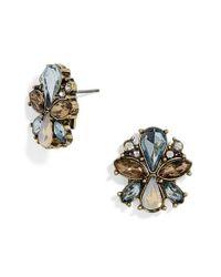 BaubleBar   Blue Evanthia Crystal Stud Earrings   Lyst