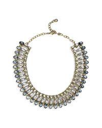 BaubleBar   Blue Sevanna Crystal Collar Necklace   Lyst