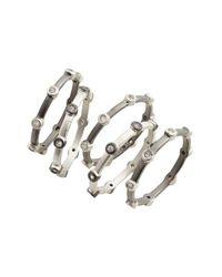 Freida Rothman | Metallic Contemporary Deco Set Of Five Stacking Rings | Lyst