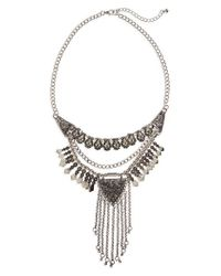 TOPSHOP - Metallic Fringe Statement Necklace - Lyst