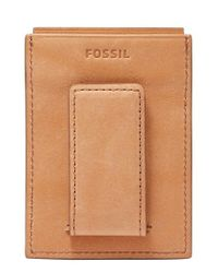 Fossil | Natural Ford Leather Money Clip Card Case | Lyst